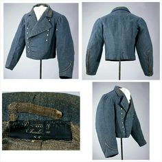 CSA Captain Chisolm 1st South Carolina Sharp Shooters  CSA Captain Chisolm 1st South Carolina Sharp Shooters, Rare Confederate officer's shell jacket custom made in Charleston, SC with the tailors label still in the collar.