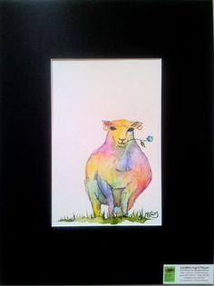 """No. 005 der wandklex-Unikatserie """"Ich war schon immer das Bunte Schaf der Familie"""" - nummerierte Einzelstücke! Ihr eigenes Schaf können Sie als Ihr Designerstück von wandklex® Ingrid Heuser, Ratzeburg, Germany bestellen:  im kleinen Klexshop bei DaWanda auf http://de.dawanda.com/shop/wandklex ©  Kunstatelier wandklex Ingrid Heuser, D-Ratzeburg Besuchen Sie mich auch auf facebook: https://www.facebook.com/wandklex"""