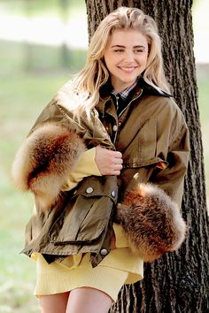 Chloe Moretz doing a photoshoot in Central Park in New York City [