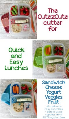 How to use the CuteZCute cutter for easy lunches that POP!