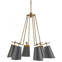 Currey and Company Jean-Louis Chandelier, Large   Single Tier   Chandeliers   Lighting   Candelabra, Inc.