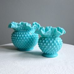 I've got a thing for westmoreland blue milk glass!