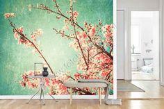 Vlies fotobehang Cherry blossom vintage - Bloemen en planten | Fotobehangen.nl