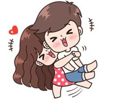 This love for you, send your love to your couple. It's so cute >. Cute Chibi Couple, Love Cartoon Couple, Cute Cartoon Pictures, Cute Love Couple, Anime Love Couple, Cute Love Stories, Cute Love Gif, Cute Love Pictures, Cute Bear Drawings