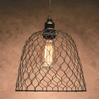 Darice Metal Chickenwire Dome Lampshade 10 X Inches Black Swag Pendant Light, Rustic Pendant Lighting, Rustic Light Fixtures, Swag Light, Pendant Lights, Cottage Lighting, Cabin Lighting, Farmhouse Lighting, Lighting Ideas