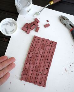 Build scale chimneys and more with these miniature red bricks. They're made with a high-strength cement mixed with pigment to create nearly indestructible bricks. As always, each one is handmade in the USA. Brick Pathway, Wood Crates, Red Bricks, Scale Model, Miniatures, Handmade, Wood Boxes, Hand Made, Mini Things