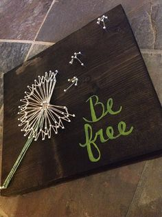 Be Free Danelion String Art by GrizzlyandCo on Etsy