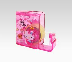 "Hello Kitty Tape Dispenser: Chocolate | -opened dispenser: 2.5""H x 3""W x .75""D  -closed dispenser: 2.5""H x 2""W x .75""D  -does not come with refills  