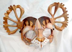 Steam Doormouse - Alice in Wonderland Leather Mask by PlatyMorph via Etsy.