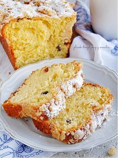Polish Recipes, Polish Food, Sweet Bread, Kitchen Recipes, Cornbread, Vanilla Cake, French Toast, Good Food, Food And Drink