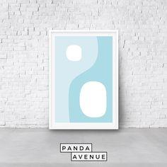 #Blue #Geometric #PRINTABLE #wallart #digitadownload #art #Abstract #MidCentury #HomeDecor #MidCenturyModern #WallDecor #WallPrints Blue Artwork, Modern Wall Art, Geometric Art, Abstract Print, Digital Image, Printable Wall Art, Online Printing, Prints, Contemporary Wall Art