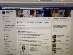 Facebook group to visit for open discussions:  www.facebook.com/visiontherapyparentsunite