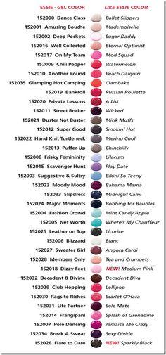 Essie Gel Colors Childress Childress & Dezuanni Abrams Ok I've got 3 wks to change my mind! Essie Gel Polish, Gel Polish Colors, Gel Color, Gel Nails, Shellac, Essie Colors, Nail Colors, Nagellack Design, Manicure Y Pedicure