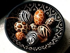 .Easter eggs (african style).               t