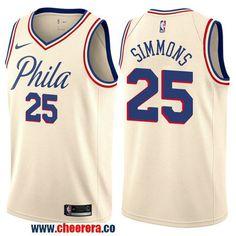Men s Nike Philadelphia 76ers  25 Ben Simmons Cream NBA Swingman City Edition  Jersey Russell Westbrook 1779e985c