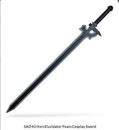 SAO Kiritos Elucidator Anime Foam Sword LARP Cosplay Cosplay Xmas Art Online NEW