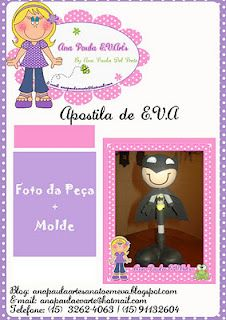 Fernanda Art's E v a: Molde ponteira do batman