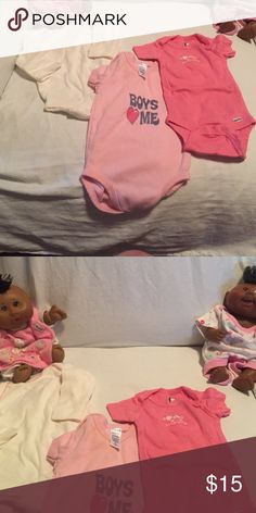 EUC, cute onesies! All for the girls! Sell together for 12$ or separately for 5$ each. JUST REDUCED Various One Pieces Bodysuits