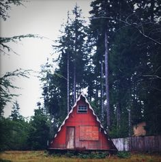 A-Frame in the woods - beautiful photo!