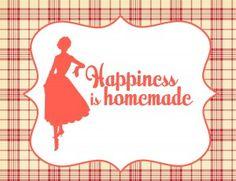 free printables - Retro Housewife Printable Party Set - Kitchen Sign   www.printablepartyshop.com