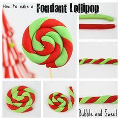 How to make a fondant lollipop cake topper
