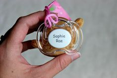 The Baby Shower Gift Every New Mother Will Want: Pacidoodle® + Starbucks Giveaway Pacifiers, Girl Shower, Sugar And Spice, Starbucks, Baby Shower Gifts, Giveaway, Perfume Bottles, Personalized Items, Shower Gifts