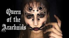 'Queen of Arachnids' Spider Makeup Tutorial. Add some scar wax to center of fangs for tzimisce?