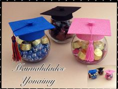How to make a graduation party centerpiece Graduation Party Centerpieces, Graduation Party Planning, Graduation Celebration, Graduation Crafts, Kindergarten Graduation, High School Graduation, Grad Parties, Party Time, Ideas Para Fiestas