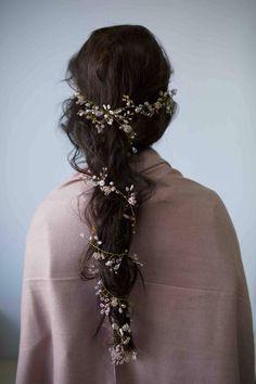 Long weave Accessories Crystal and Pearl hair vine, Wedding Wreaths Accessories Bridal tiara Bridal Pretty Hairstyles, Wedding Hairstyles, Fantasy Hairstyles, Hairstyle Short, Bridal Hairstyle, Formal Hairstyles, Weave Hairstyles, Hairstyle Ideas, Long Weave