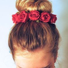 Top Shop Burgandy flower hair bun band New with tags. Cure for summer or photoshoots. Topshop Accessories Hair Accessories