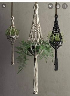Macrame Hanging Pots With Plants D Fabric Cgtrader; macrame hanging pendants with . Macrame Plant Hanger Patterns, Macrame Wall Hanging Patterns, Macrame Plant Holder, Macrame Art, Macrame Design, Macrame Projects, Macrame Patterns, Fleurs Diy, Macrame Tutorial