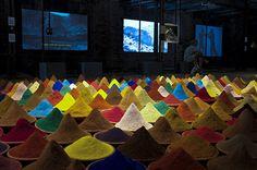 Venice Biennale 2013.  The artwork of Sonia Falcon, in the Bolivian pavilion.