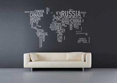 Worldly word art!
