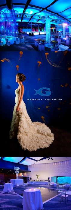 Weddings at Georgia Aquarium! Can you imagine saying ''I do'' surrounded by ocean views? Sounds pretty amazing, right? http://www.theperfectpalette.com/2012/09/sponsored-post-georgia-aquarium.html#