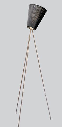 Lampadaire oslo wood noir metallic h165cm northern lighting normal