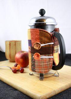 French press coffee cozy - cute!!