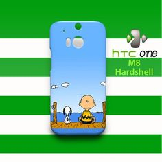 Snoopy and Charlie Brow HTC One M8 Case Cover Hardshell