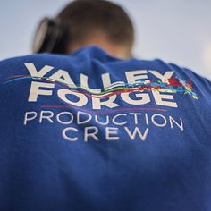 """Have you seen the @CreationFest media folks wear these blue """"Valley Forge Production Crew"""" t-shirts? VFCC is a proud sponsor of #CreationFest & our college is running all the media & video production at the festival! This is an amazing opportunity for both students & graduates to get hands-on experience! #iHeartVFCC Photo Credit: Nick Meo '14"""