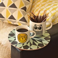 Mini mug Lion Jane Foster - deco-graphic.com