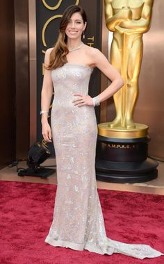 The 7th Women of the Week  2014 Jessica Biel from the Red Carpet at the Oscar's