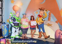 There's nothing better than good friends good times ears and Disney  #Repost from @donnasdisneydiary. Today is round number 6 of chemo for our amazing and inspirational #friend @3mmskat so we headed over to see our Disney Pixar friends Buzz and Woody to get their help sending a special message to her.  Much love and strength to you Emms and a reminder to Kick #cancer to infinity and beyond!     #Disney #HollywoodStudios #WaltDisneyWorld #curecancer #positivethinking #nevergiveup #staystrong…
