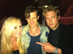 My favorite CosPlayer Jessica Nigri with Matt Smith and Arthur Darvill from Doctor Who
