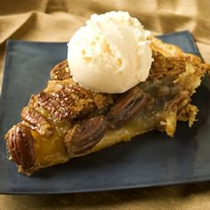 "Vinegar Pecan Pie | ""A favorite pie that is not quite as sweet ..."