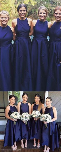 2018 Bridesmaid Dresses #2018BridesmaidDresses, Navy Bridesmaid Dresses #NavyBridesmaidDresses, Bridesmaid Dresses A-Line #BridesmaidDressesALine, Bridesmaid Dresses Blue #BridesmaidDressesBlue