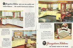 1957 Youngstown Steel Kitchen Cabinets Mid Century Modern Design Vintage Catalog   eBay
