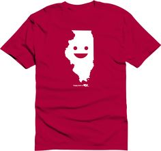 Happy state Co. illinois shirt available at http://www.kickstarter.com/projects/happystateco/happy-state-co-state-themed-shirts