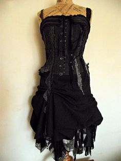 Charcoal dress - I would wear this to my next rock concert with a pair of Mary Poppins boots! Gotta have!