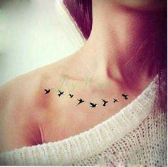 Waterproof Temporary Tattoo Sticker on body fly birds tattoo sexy fake tattoo flash tattoo for girl women lady
