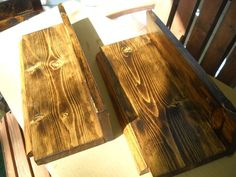 beautiful set of 2 rustic floating wall shelves... i love how the wood grain turned out on these! check em out! :)....SOLD