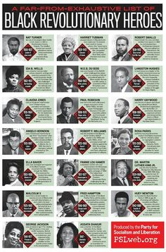 (Black History) -- A Far-from-Exhaustive-List Black Revolutionary Heroes Black History Facts, Us History, African American History, African American Scientists, Black History People, Famous Black People, African American Quotes, African American Inventors, Black History Books